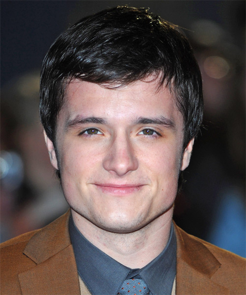 Josh Hutcherson  Medium Straight   Dark Brunette   Hairstyle