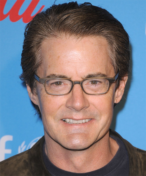 Kyle MacLachlan  Short Straight Formal   Hairstyle   - Medium Brunette