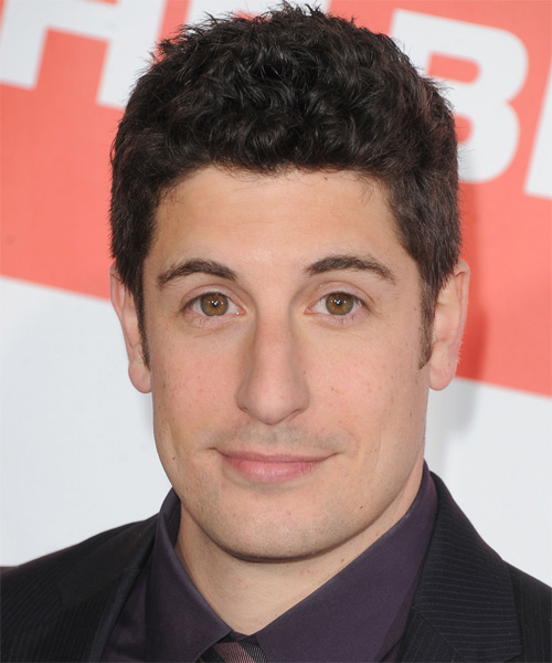 Jason Biggs Short Curly Casual   Hairstyle   - Black