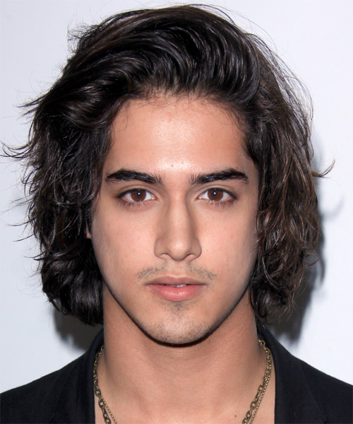 Avan Jogia Long Wavy Black Hairstyle