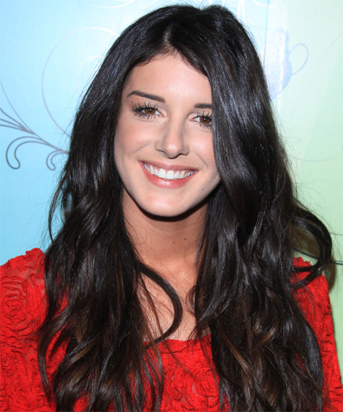 Shenae Grimes Long Straight Casual    Hairstyle   - Black  Hair Color