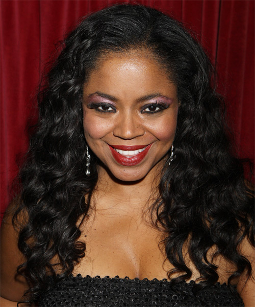 Shanice Wilson Long Curly Casual    Hairstyle   - Black  Hair Color