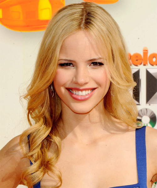 Halston Sage  Long Wavy Formal   Hairstyle   - Medium Blonde (Golden)