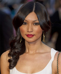 Gemma Chan Long Wavy Formal    Hairstyle   - Black  Hair Color