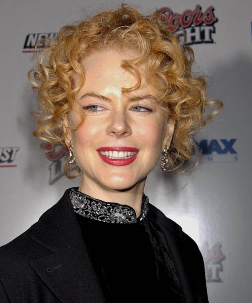 Nicole Kidman  Medium Curly Formal   Updo Hairstyle