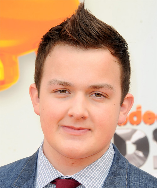 Noah Munck  Short Straight Casual Mohawk  Hairstyle   - Medium Brunette