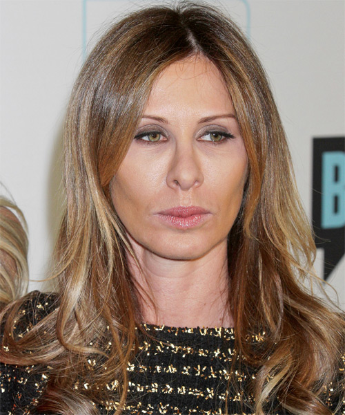 Carole Radziwill Long Straight Casual   Hairstyle   - Dark Blonde