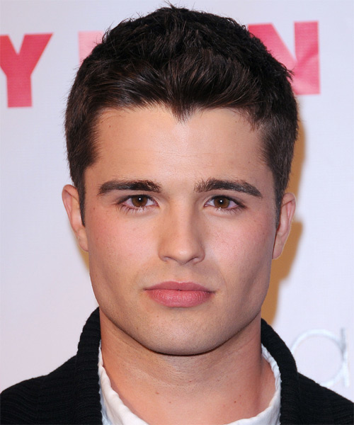 Spencer Boldman  Short Straight Formal   Hairstyle   - Black