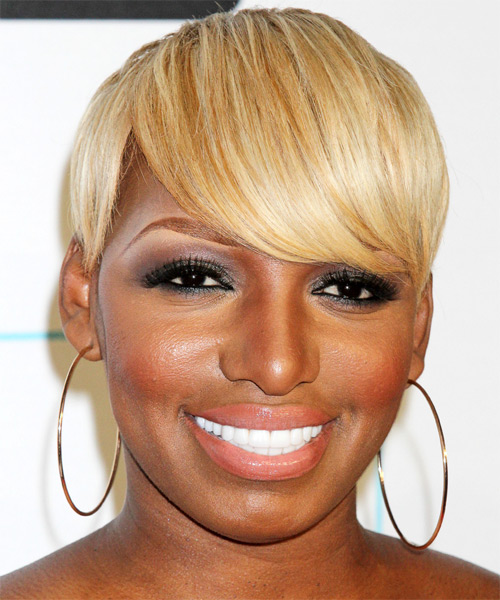 NeNe Leakes Short Straight Formal   Hairstyle with Side Swept Bangs  - Medium Blonde (Golden)