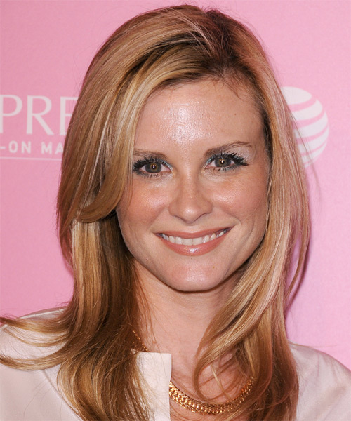 Bonnie Somerville Long Straight Formal   Hairstyle   - Medium Blonde (Honey)