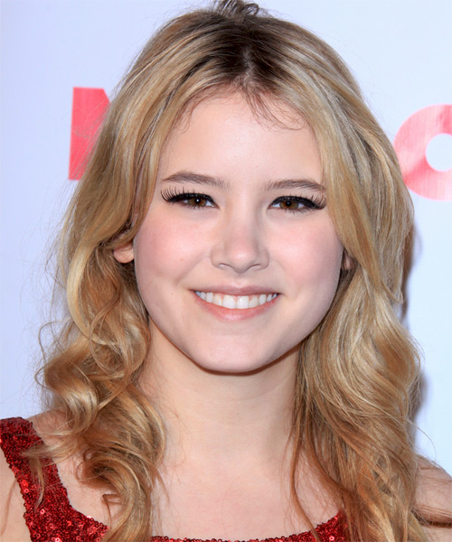 Taylor Spreitler Long Wavy Casual   Hairstyle   - Medium Blonde (Copper)