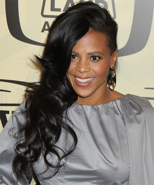 Laurieann Gibson Long Wavy Casual   Hairstyle   - Black