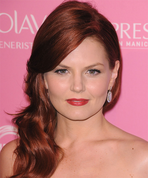 Jennifer Morrison Long Straight Formal   Hairstyle   - Medium Red