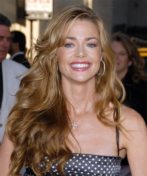 Denise Richards Long Wavy Formal   Hairstyle