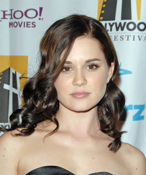 Alison Lohman Long Wavy Formal   Hairstyle
