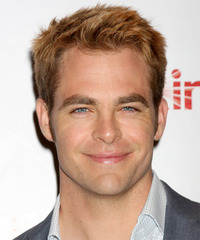 Chris Pine Short Straight Casual    Hairstyle   -  Copper Blonde Hair Color
