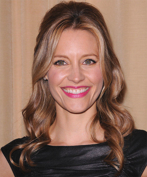 KaDee Strickland Half Up Long Curly Formal  Half Up Hairstyle   - Light Brunette (Caramel)