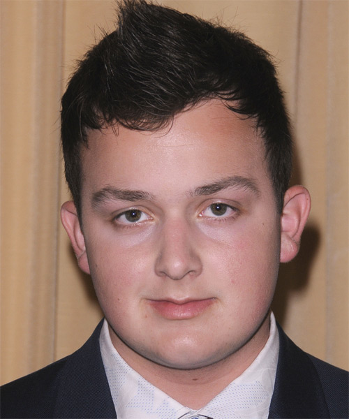 Noah Munck Short Straight Casual  Mohawk  Hairstyle   - Dark Brunette Hair Color