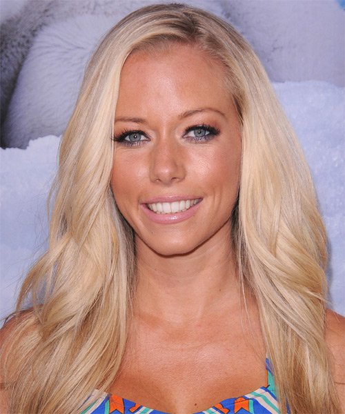 Kendra Wilkinson Long Straight Casual    Hairstyle   - Light Blonde Hair Color