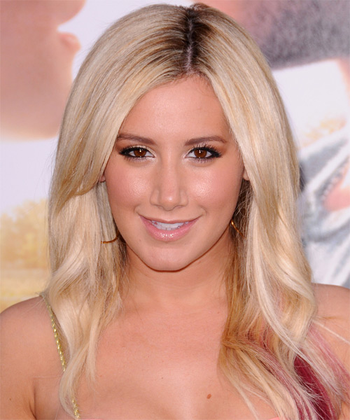Ashley Tisdale Long Straight Formal   Hairstyle   - Light Blonde (Champagne)