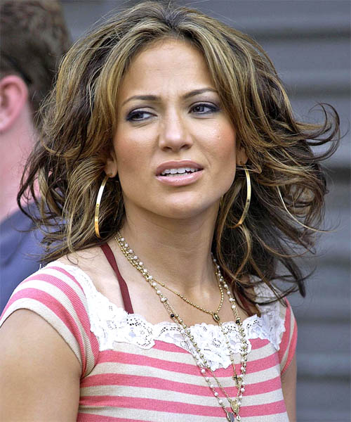 Jennifer Lopez Long Wavy Formal    Hairstyle