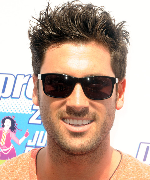 Maksim Chmerkovskiy Short Straight Casual   Hairstyle   - Medium Brunette
