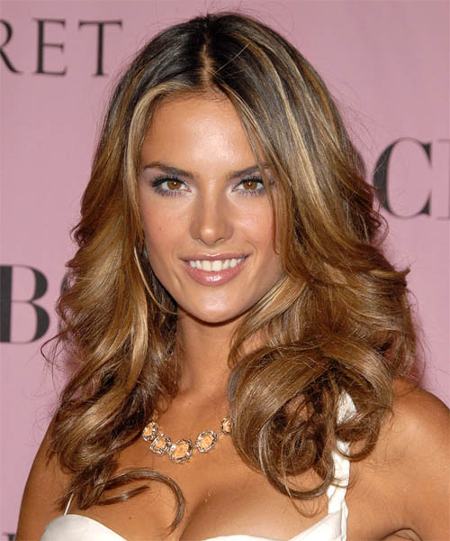 Alessandra Ambrosio Long Wavy Formal   Hairstyle
