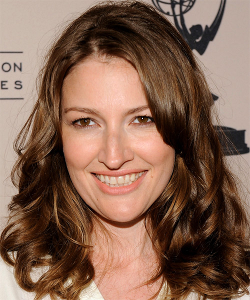 Kelly Macdonald Medium Wavy Casual   Hairstyle   - Medium Brunette