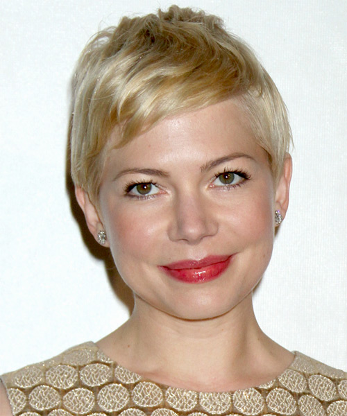 Michelle Williams Short Straight Casual    Hairstyle   - Light Blonde Hair Color