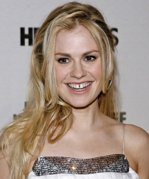 Anna Paquin Long Straight Formal   Hairstyle