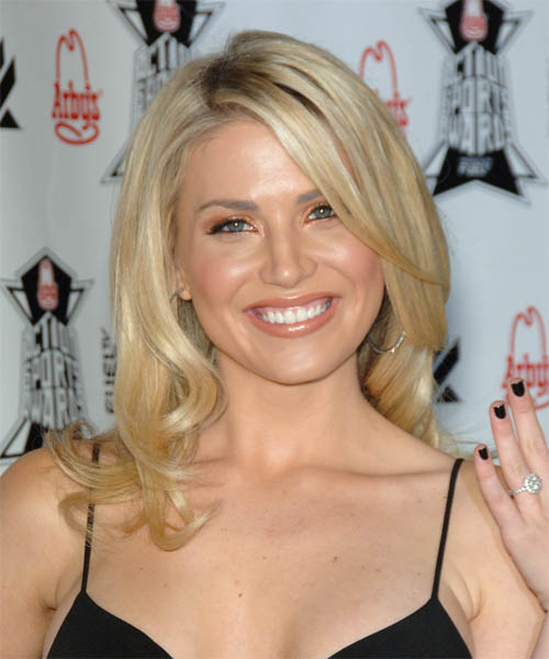 Willa Ford Long Straight Formal   Hairstyle