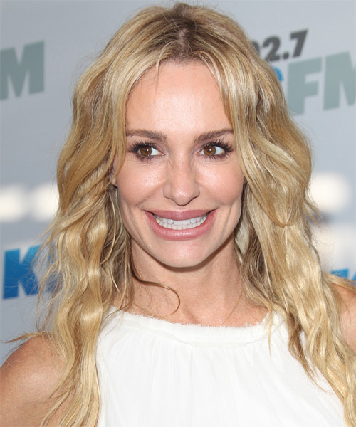 Taylor Armstrong Long Wavy Casual   Hairstyle   - Light Blonde