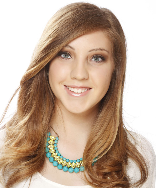 Long Straight Formal   Hairstyle   - Dark Blonde