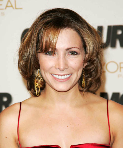 Shannon Miller Medium Wavy Formal   Hairstyle