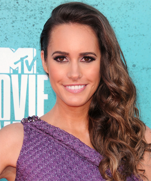 Louise Roe Long Wavy Formal   Hairstyle   - Medium Brunette (Caramel)