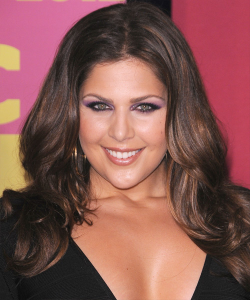 Hillary Scott Long Straight Formal   Hairstyle   - Medium Brunette