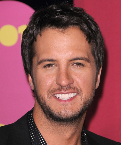 Luke Bryan  Short Straight Casual   Hairstyle   - Dark Brunette