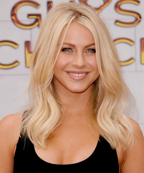 Julianne Hough Long Straight Casual   Hairstyle   - Light Blonde (Platinum)