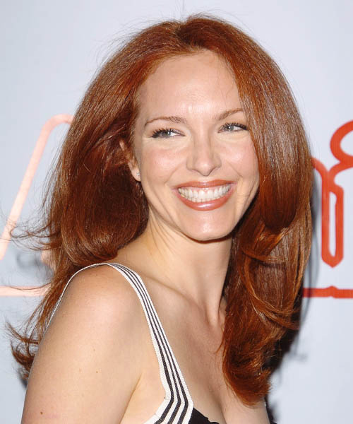 Amy Yasbeck Long Straight Formal   Hairstyle