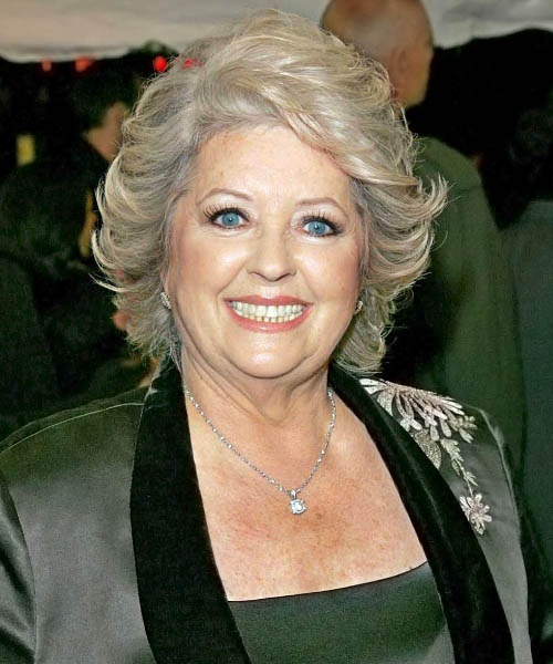 Paula Deen Medium Straight Formal   Hairstyle