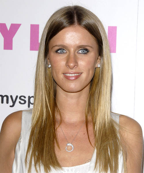 Nicky Hilton Long Straight Casual   Hairstyle