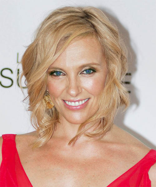 Toni Collette Medium Wavy Formal   Hairstyle