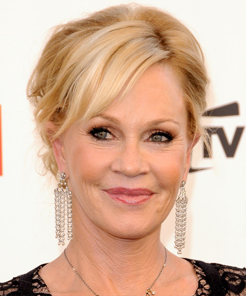 Melanie Griffith Updo Long Curly Formal Wedding Updo Hairstyle   - Medium Blonde (Golden)