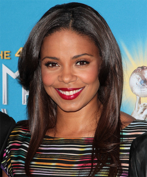 Sanaa Lathan Long Straight Casual   Hairstyle   - Black