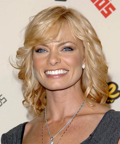 Jaime Pressly Medium Wavy Formal   Hairstyle