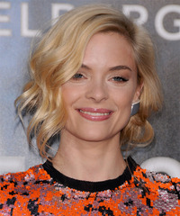 Jamie King Short Wavy Casual Layered Bob  Hairstyle   -  Golden Blonde Hair Color