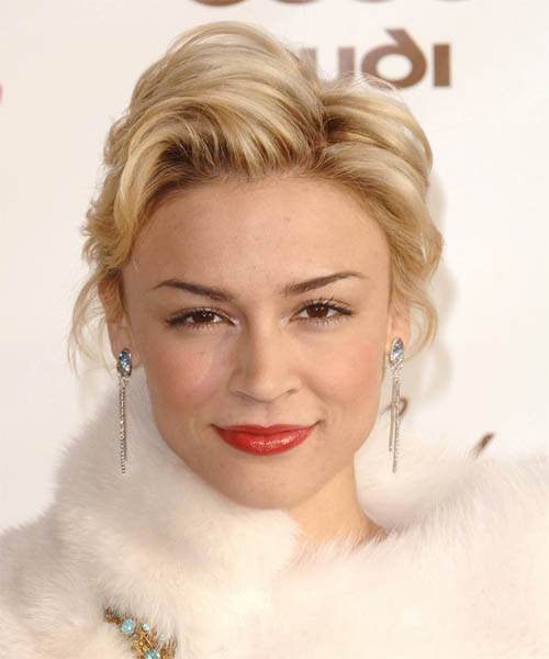 Samaire Armstrong Updo Medium Straight Formal  Updo Hairstyle