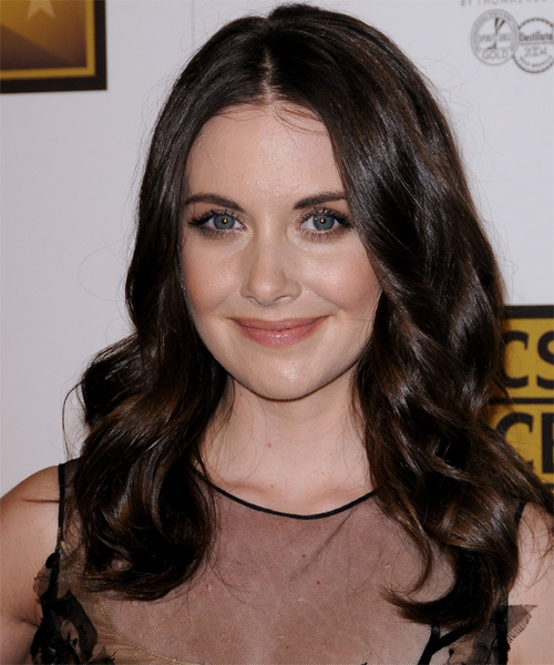 Alison Brie Long Wavy Casual   Hairstyle   - Black