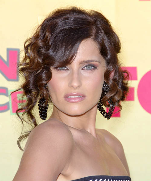 Nelly Furtado Updo Long Curly Formal  Updo Hairstyle