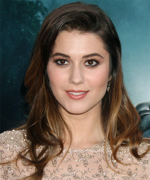 Mary Elizabeth Winstead Long Straight Casual    Hairstyle   - Dark Brunette Hair Color with  Brunette Highlights